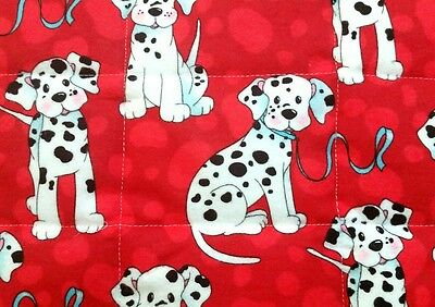 HANDMADE, DISNEY'S 101 DALMATIANS,34x42in, FLANNEL BABY/TODDLER  QUILTED BLANKET