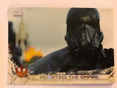 Star Wars Rogue One Series 2 Black Base Card #86 Chirrut Pulls the Switch