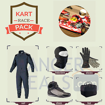 Go kart Race Suit CIK/FIA Level 2 (Suit, boot, gloves, balaclava, bag)any colour