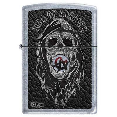 Zippo 1673, Sons of Anarchy-Skull, Street Chrome Finish Lighter
