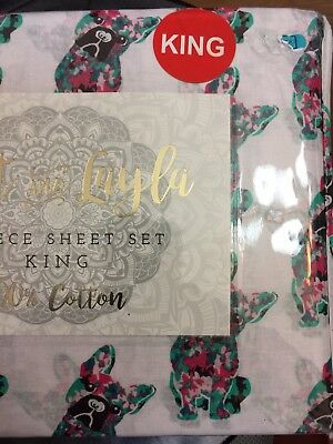 French Bulldog Colorful Bed Sheets Size King