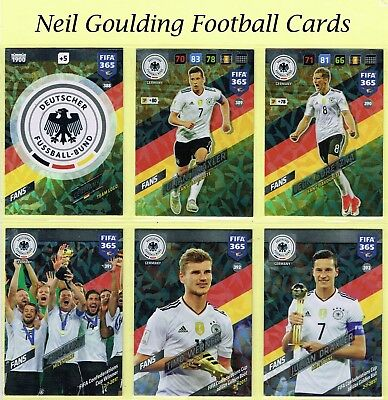 Panini FIFA 365 2018 ☆ GERMANY ☆ Fans/International Star Cards #388 to #405