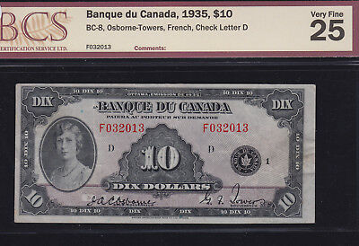 1935 Bank of Canada $10 - Princess Mary Vignette - French Series