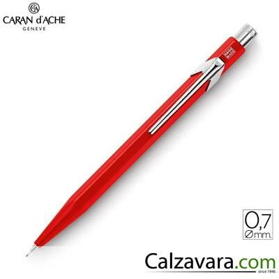 Caran d'Ache 844 Portamine 0,7 | Mechanical PenciL CdA | Rosso Red Classic