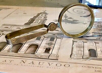 Antiqued Magnifying Glass - Nauvoo, LDS, Mormon, Zions Mercantile