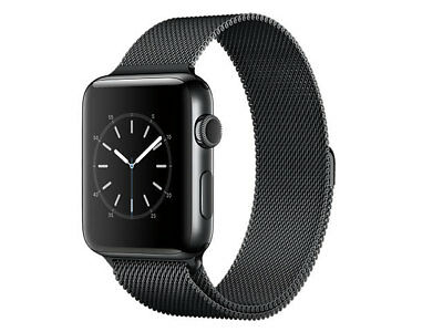 Apple WATCH 42mm Space Gray Aluminum Case with Black metal Band