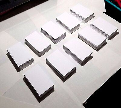 1000 ct. White Blank Business Cards 110 lb - 3.5 x 2 Crafts / Tags / Cards