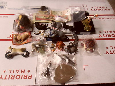 Japan Miniature Animal Figure Lot Cat Dog Butterfly Turtle Insect Owl Frog Etc