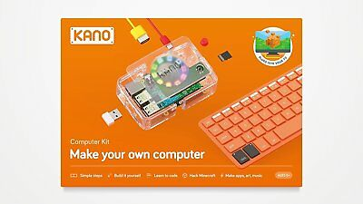 Kano Computer Kit Make Your Own Computer Ages 6+ Plugs into TV Hack Mindcraft