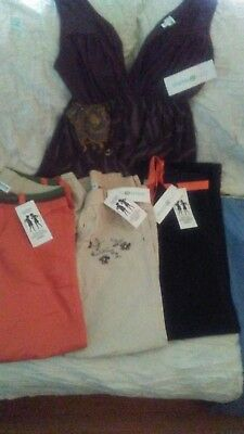 NWT LOT of 4---Maternity Pants and Shirt.**One to Nine**  Can be worn to work!
