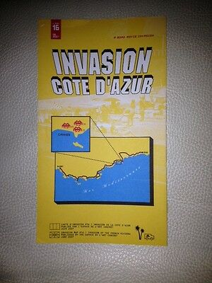Space Invader Invasion of Cote d'azur #16 2007 invasion map