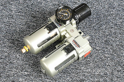 "1/2"" Filter Regulator + Lubricator Heavy Duty 0-10 Bar Bspp (515)"