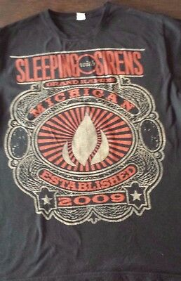 Sleeping with Sirens Unisex tee t shirt top band merchandise size L