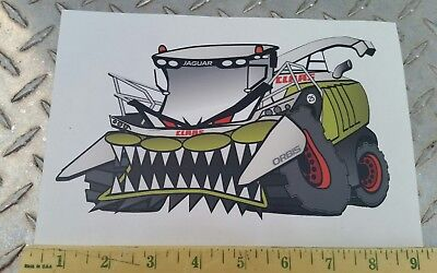 "Claas Farm Equip ""mad Jag"" Jaguar Chopper Decal  Brand New Licensed Cat Agco"