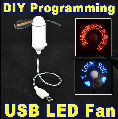 USB Fan with DIY PROGRAMMABLE LED DISPLAY