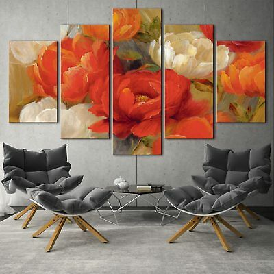 Flowers posters 5PCS HD Canvas Print Home Decor Picture Room Wall Art Painting