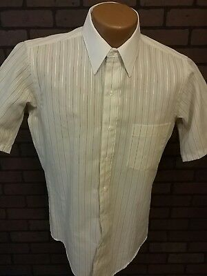 Vintage Kent Arrow Finesse S/S Casual Dress Shirt  Hipster 14 1/2 32-33  C2-4