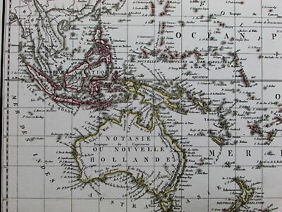 New Holland Australia Polynesia Pacific New Zealand Oceania 1816 rare Lapie map