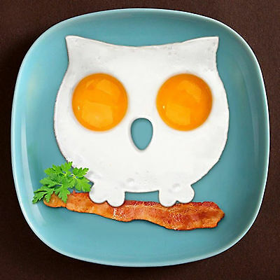 Silicone Owl Shaped Fried Egg Mold Funny Side Up Egg Ring Mould Kitchen Cooking