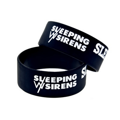 Sleeping With Sirens rock band Silicone Rubber Wristband bracelet jewelry gift