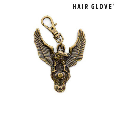 Hair Glove® Biker Zipper Pull Charm Copper American Eagle w/V-Twin Engine 61022
