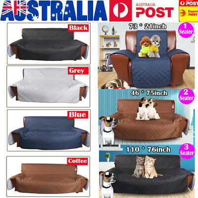 1/2/3 Seater Anti-Slip Quilted Sofa Couch Recliner Chair Pet Kid Protector Cover