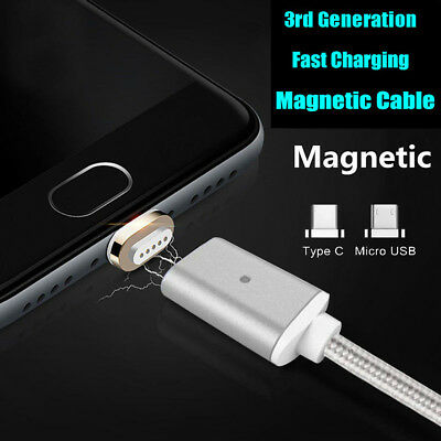 For Samsung Galaxy S8 Plus Magnetic Type-C Micro USB Fast Charging Charger Cable