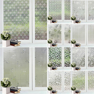 HW- Decor Privacy Frosted Window Glass Film Sticker Home Bathroom Waterproof Chi