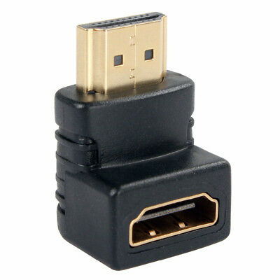 Right Angle HDMI A Male to HDMI Female 90 Degree Adapter Connector Converter HD