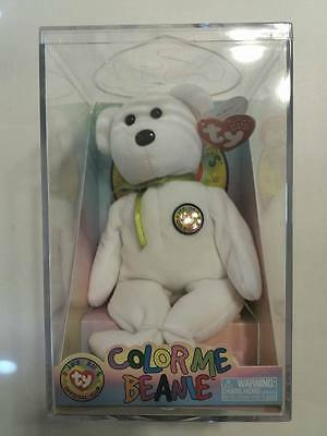 Ty Beanie Baby Color Me Beanie Teddy Bear With Complete Kit Mint Condition