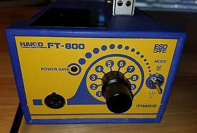 Hakko Thermal Wire Stripper Model FT-800 ESD safe,  one blade bad, see pictures
