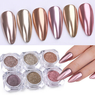 Mirror Effect Shiny Silver Nail Art Powder Chrome Pigment Dust Decor BORN PRETTY