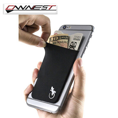 Lycra Mobile Phone Stick On Wallet Credit Card Holder Adhesive Soft for iPhone