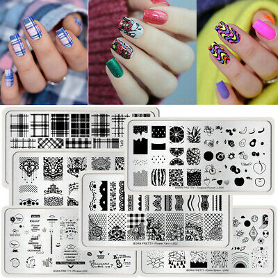 57 Patterns Nail Art Stamping Plates Multi Design Image Stamp Template Manicure