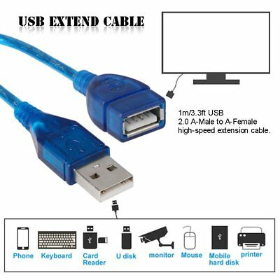 1M 3.3ft USB 2.0 Extend Cable Extension Kabel A Male to A Female For PC Laptop