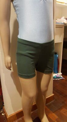 MakAmy Girls Bottle Green Cotton Bike Shorts School uniform sz10 BNWOT (31)
