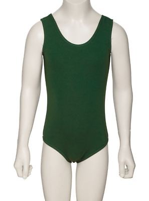 MakAmy Bottle Green Cotton blend Leotard School Uniform Dance sz10 BNWOT (31)