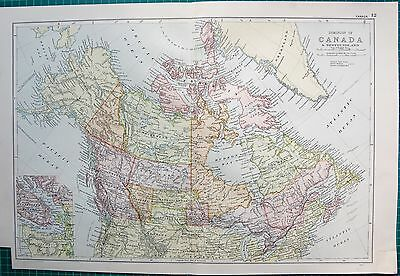 1901 Large Victorian  Map- Canada