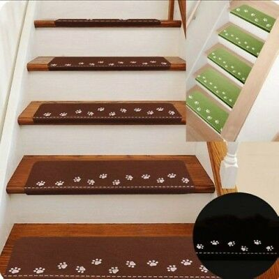 5 X Anti-slip Stair Treads Carpet Indoor Self Suction Steps Rugs Mats Home Decor