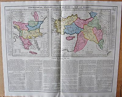1829 Antique Map- Lavoisne-Geographical,Statistical And Historical Map Of Turkey