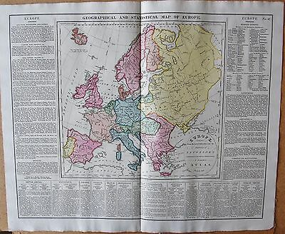 1829 Antique Map- Lavoisne- History-Geographical And Statistical Map Of Europe