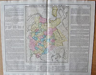 1829 Antique Map- Lavoisne-Geographical And Statistical Map Of Russia