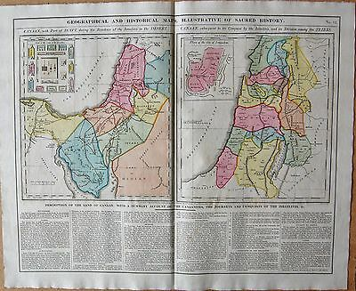 1829 Antique Map- Lavoisne-Maps Illustrative Of Sacred History, Israelites,canaa