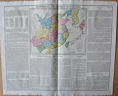 1829 Antique Map- Lavoisne-Geographical,statistical And Historical Map Of China