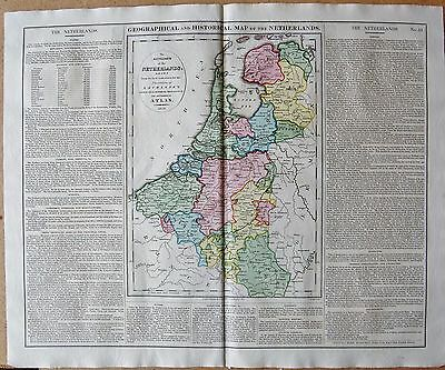 1829 Antique Map- Lavoisne-Geographical And Statistical Map Of The Netherlands