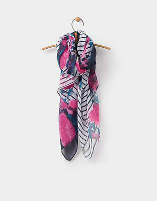 Joules Wensley Scarf in French Navy Border Print in One Size