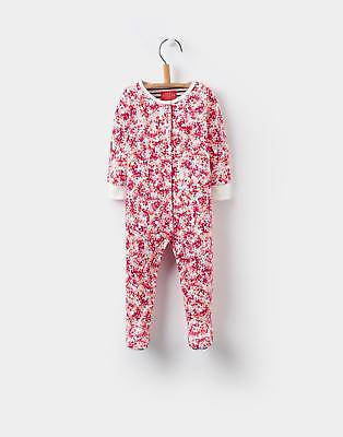Joules Girls Razamataz Babygrow in 100% Cotton in Cream Ditsy Floral Print