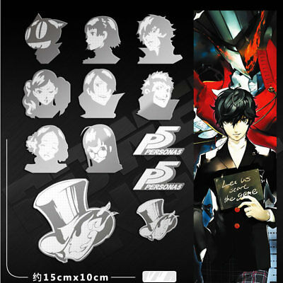 11pcs/set PERSONA 5 3D Metal Decal Stickers For Phone Laptop Decorations