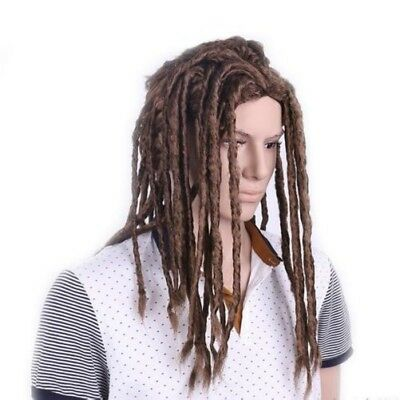Dreadlocks Wig Reggae Long Hair African Hip Hop Rock Party Hair Set Black Brown