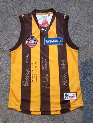 Mitchell Luke Hodge Clarkson Signed 2008 Hawthorn Premiership Premiers Jumper